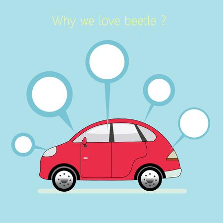 vw: Why we love beetle. Illustration