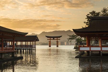 Itsukushima Shrine famous place at Miyajima  Hiroshima  Japan Editorial