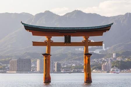 Itsukushima Shrine famous place at Miyajima. Hiroshima. Japan