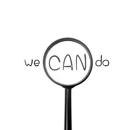 depends: We can do with magnify glass isolated on white background