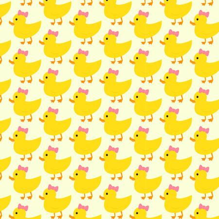 Duck pattern background Vector