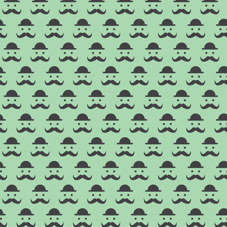 mustaches: Hipster patterns background