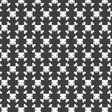 White skull patterns background Vector