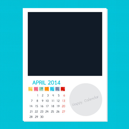 polariod: Calendar April 2014, Photo frame background
