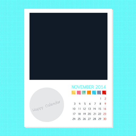 polariod frame: Calendar November 2014, Photo frame background