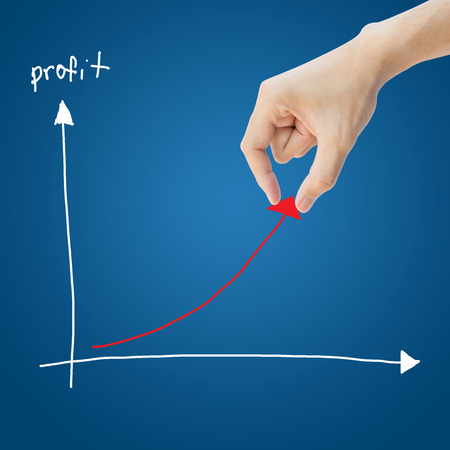depends: Business hand help profit graph