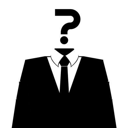 concealed: Anonymous avatar profile icon on white background. Vector.
