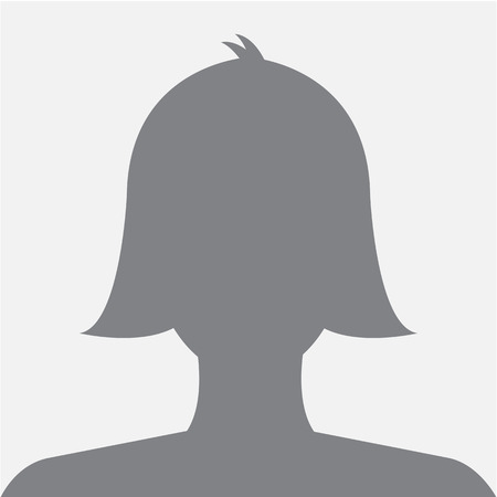 Female profile avatar icon dark grey on white background use for social network. Vector. Ilustração