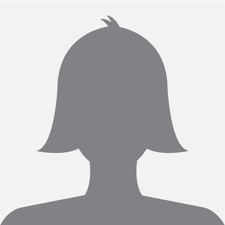Vrouwelijk profiel avatar pictogram donker grijs op een witte achtergrond te gebruiken voor sociale netwerk. Vector. Stockfoto - 30818244