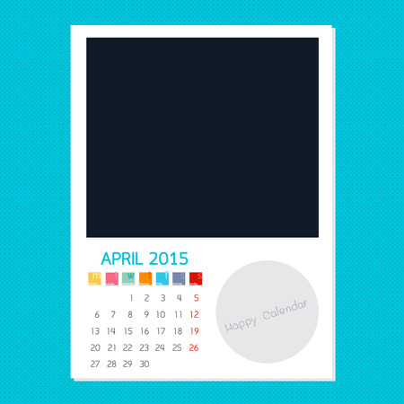 polariod frame: Calendar April 2015, Photo frame background