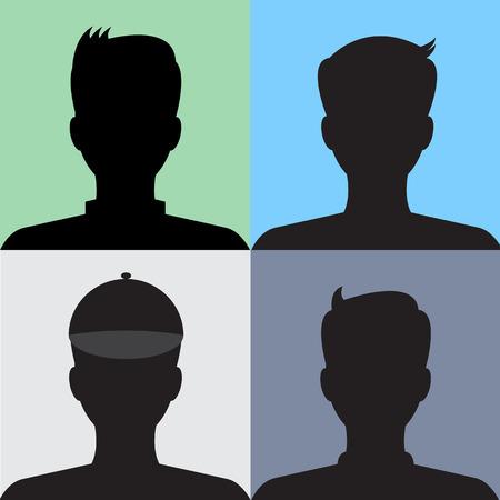 Avatar 4 part profile vector photo