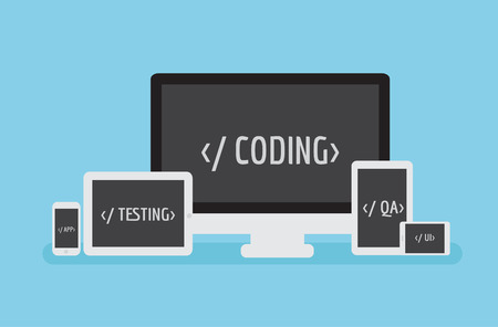 coding: Coding Responsive. Software mobile application development