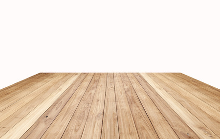 Brown wood plank floor texture background isolated on white Stok Fotoğraf