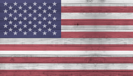 Usa flag wood plank wall texture background photo