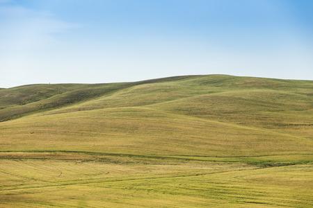 grassy knoll: The grassy knoll with blue sky