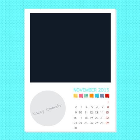 polariod frame: Calendar November 2015, Photo frame background