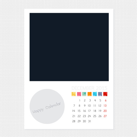 december kalender: Calendar December 2015, Photo frame background