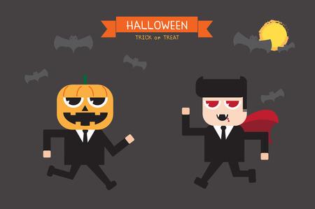 salaryman: Halloween cartoon in salaryman uniform fancy.