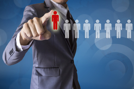 Businessman select leader career of business conceptual photo