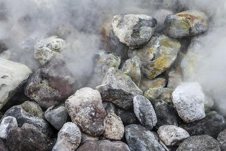 moistness: hot spring detail at Beppu, Japan
