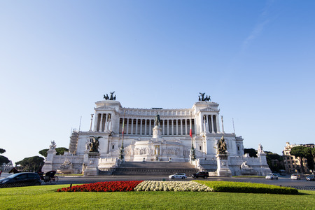 emmanuel: Equestrian monument to Victor Emmanuel II near Vittoriano in Rome, Italy Stock Photo