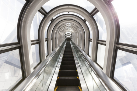 kink: The Escalator Of The Floating Garden Observatory Stock Photo