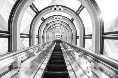 kink: The Escalator Of The Floating Garden Observatory black and white