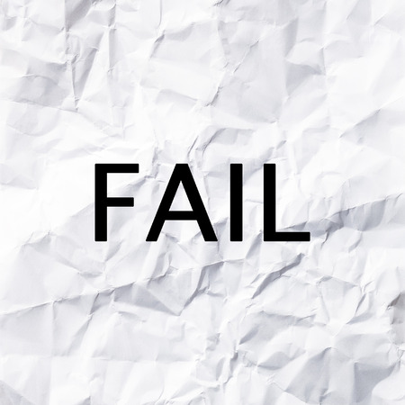 white paper: Fail concept on White paper texture and background.