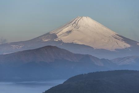 Mt. Fuji winter season shooting from Hakone viewpoint. Japan
