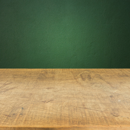 wood wall texture: Green wall with wood floor texture background