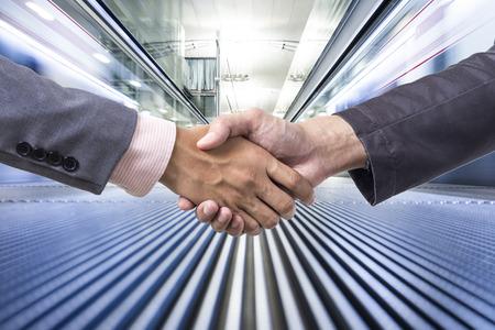 business handshake: Business handshake on business movement
