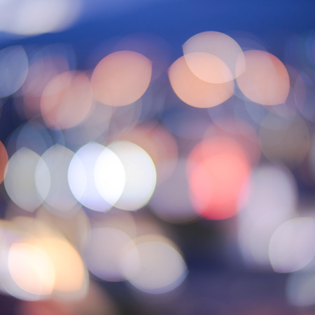 night background: Abstract light blur bokeh background