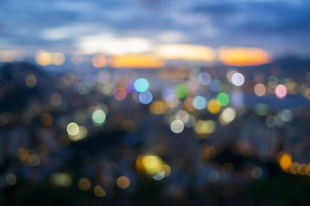 Bokeh city background
