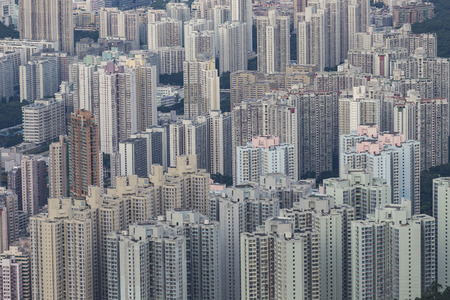 building: Building apartment pattern Hong Kong living. Stock Photo