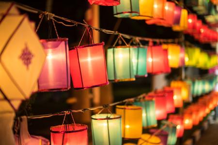 Asia festival kleurrijk lantaarn Stockfoto