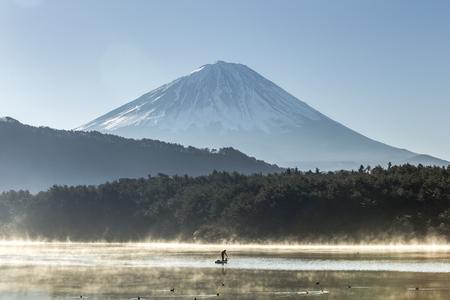 saiko: Mount Fuji view from saiko lake. Yamanashi, Japan