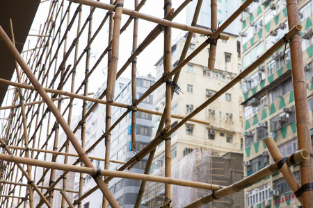 housing project: asian bamboo Scaffolding technology in the renewal housing project at hong kong china