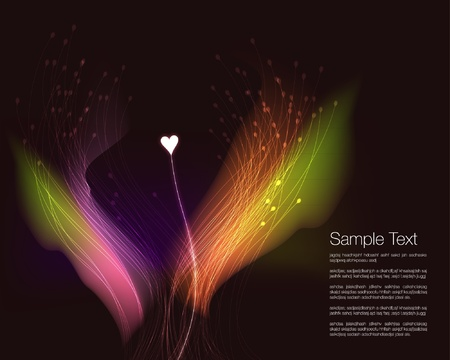 creative arts: Abstract Vector Love