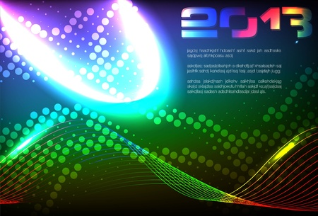 light trails: Abstract Background Vector Illustration
