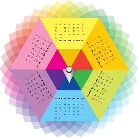 colorful calendar Stock Vector - 19110416