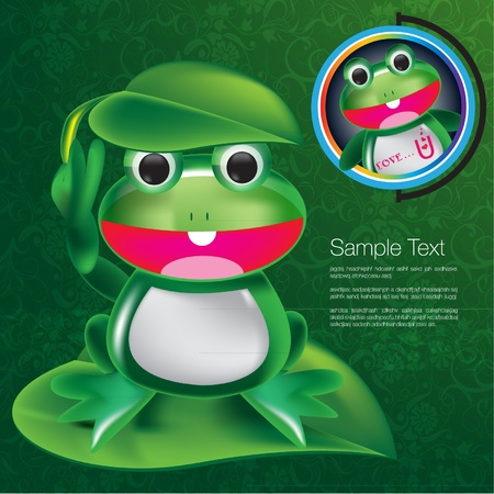 cute frog: Frog character