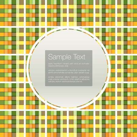 Seamless background set of plaid pattern Vector