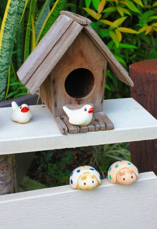 the bird house for decoration Stock Photo - 19753088