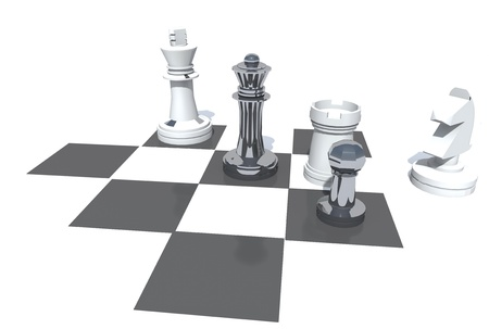 playing the chess with strategy photo