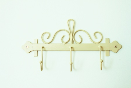 classical towel hook front of the bath