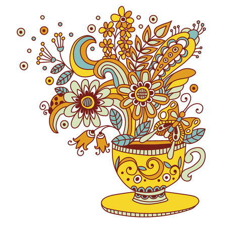 Flower cup vector illustration Illustration