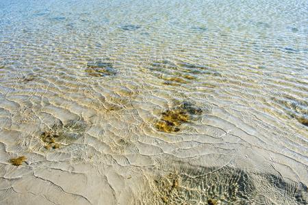 Sea water sand
