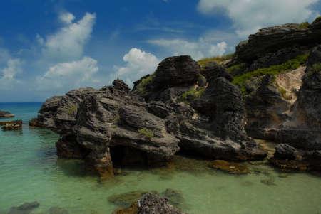 Rock formation in Bermuda Stock Photo - 3318181