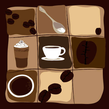 arabica: Coffee related symbols. Scalable vector graphics in format