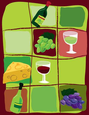 schaalbaar: Wijn gerelateerde symbolen. Scalable Vector Graphics in *. eps-formaat